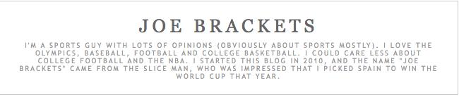 Joe Brackets info card